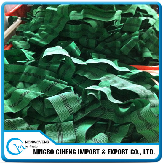 Polyester Green Wide Jacquard Elastic Band for Sofa