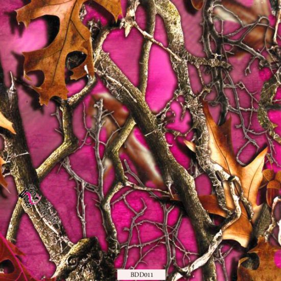 Free Samples of Leaf Camo Water Transfer Printing Films for Box and Helmet (BDD011)