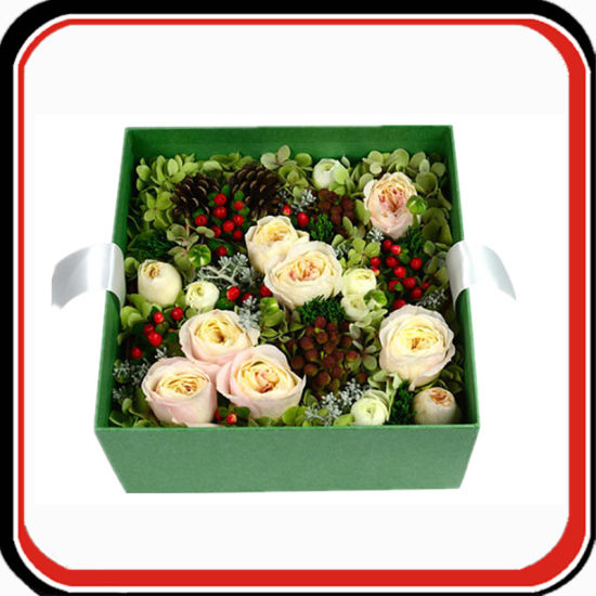 Custom Cardboard Paper Rigid Flower Gift Packaging Box pictures & photos
