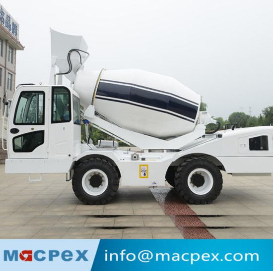 Auto Self Loading Concrete Mixer Truck with 300 Degree Rotating and Lubrication System