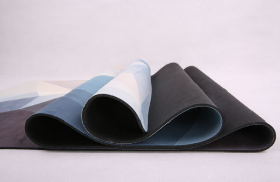 Custom Round Eco Black Rubber Yoga Mat Manufacturer for Yoga pictures & photos