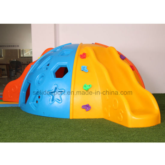 Children Body Training Play Games Area Plastic Climb Hillside Slide for Outdoor Playground