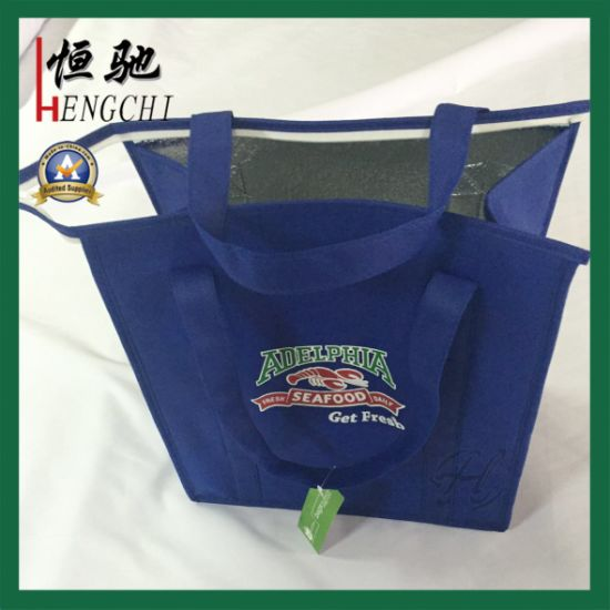 Nonwoven Insulated Ice Cooler Bag with Tote Handle pictures & photos