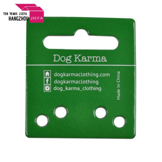 Profession Cardboard Label Hang Tags/Swing Tag with Custom Holes for Pet Food