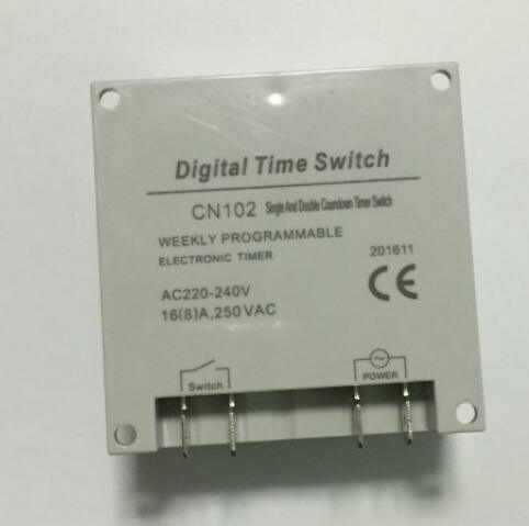 220V LCD Digital Power Programmable Cycle Timer Countdown Seconds Timer  Relay Switch Cn102A