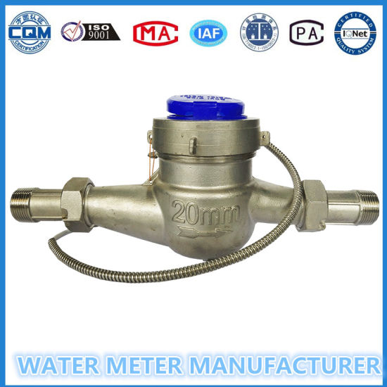 Stainless Steel Multi Jet Dry Dial Pulse Output Water Meter Dn15mm