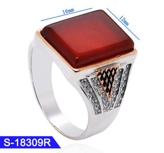 New Design Islamic Jewelry 925 Sterling Silver Gemstone Mens Finger Rings for Wholesale pictures & photos