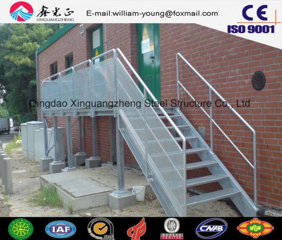 Prefabricated Steel Outdoor Stair For Workshopu0026Warehouse (JW 16250)