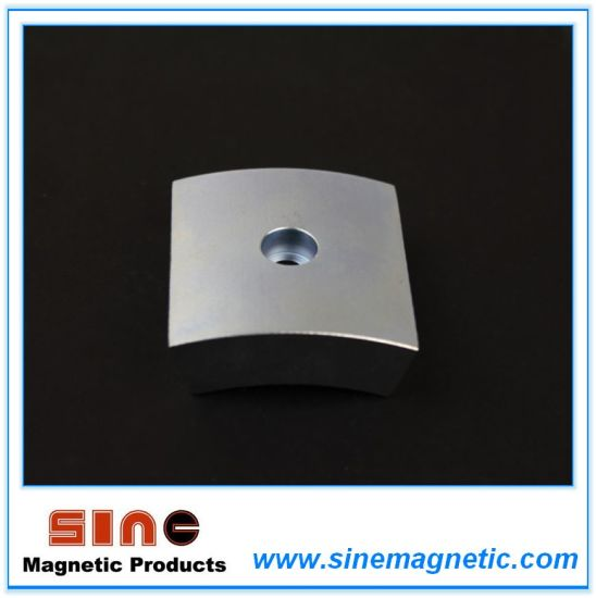 Strong Permanent Neodymium Arc Magnet with Counterbore