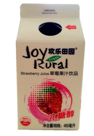 450ml Strawberry Juice Gable Top Carton with Aluminum Foil pictures & photos