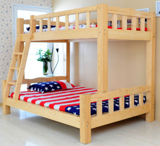 Simple Style Solid Wood Bunk Bed (M-X1013)