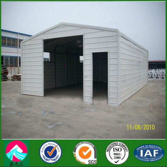 China Low Cost Steel Structure Garage - China Steel Structure Garage ...