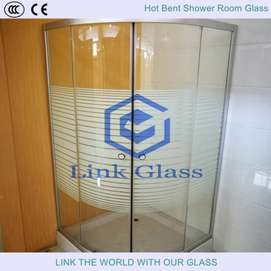 10mm Tempered Shower Room Glass with Acid Etched Glass pictures & photos