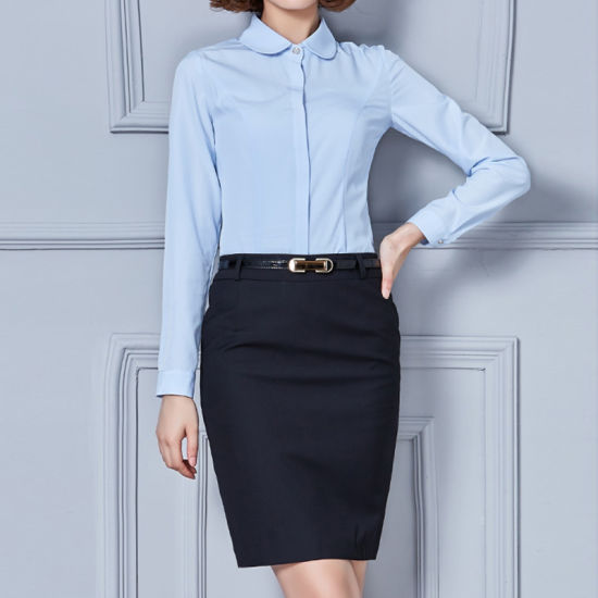 6365b9e8fc1 Women Formal Shirts Office Wear Ladies Model Blue Formal Shirt pictures    photos
