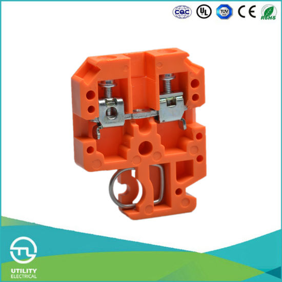 Utl Unversal Wiring Terminal 2.5mm2 DIN Rail Orange Plastic Connector