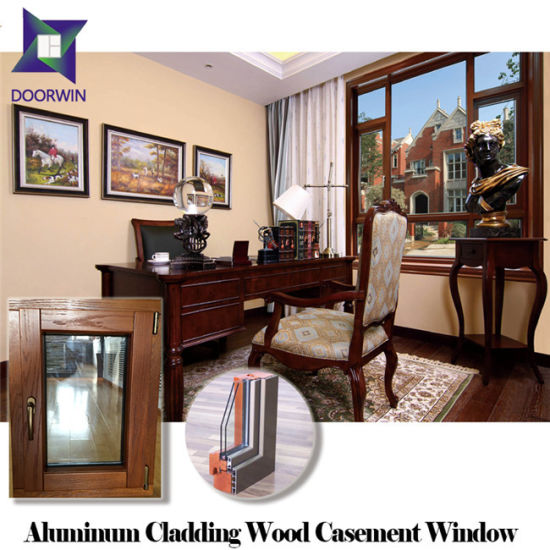 High Quality Aluminum Clad Wood Casement Window for High End House, High Class Teak Wood Aluminium Window pictures & photos