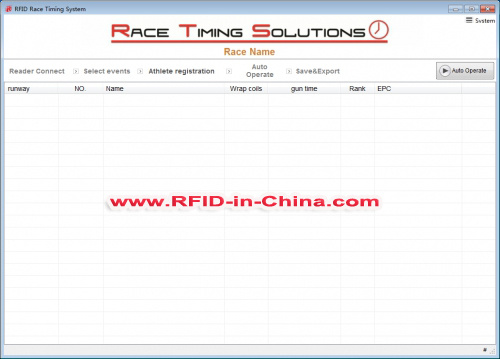 Software Development for Race Time System