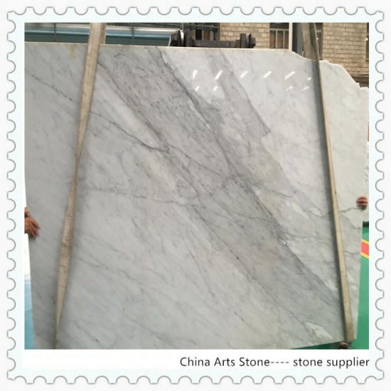 China Wholesale Bianco Carrara White Marble Slab for Tile and Countertop pictures & photos