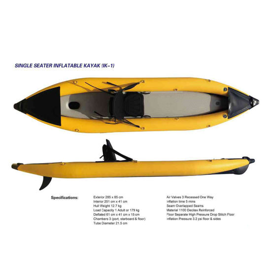 China Manufacturer 2.85m inflatable Drop Stitch Bottom Fishing Kayak