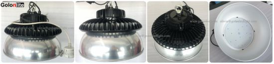 LED Factory Lights 200W UFO High Bay Light with Motion Switches for Food Production Plant