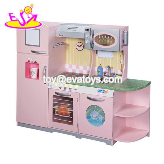China 2018 New Style Children Big Wooden Kids Kitchen ...
