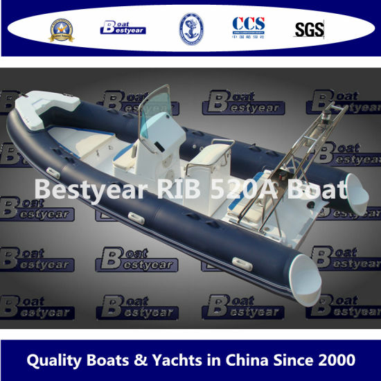 Rigid Inflatable Boat by Rib520A Model PVC or Hypalon Material Tube Boat for Fishing or Sport pictures & photos