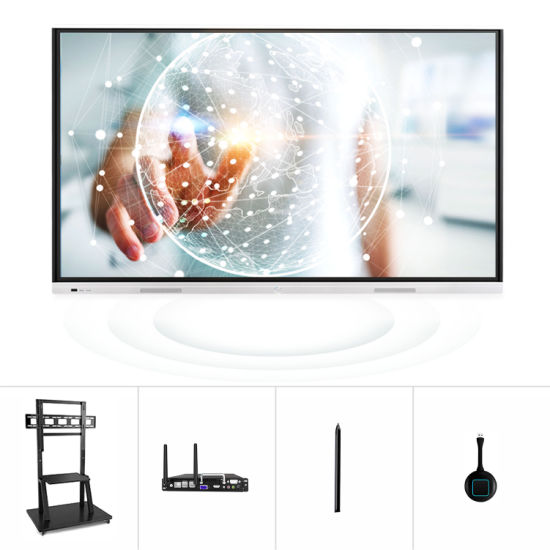 T6h86c SKD 86 Inch Multimedia Interaction Conference Room Whiteboard All in One Systems Classroom Smart Board