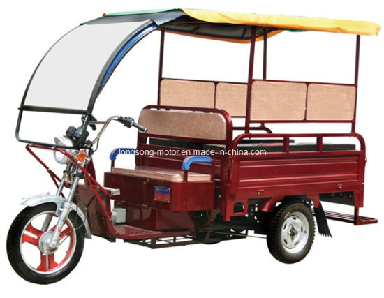 Electric Passenger Tricycle Carry 6 Passengers with Cabin