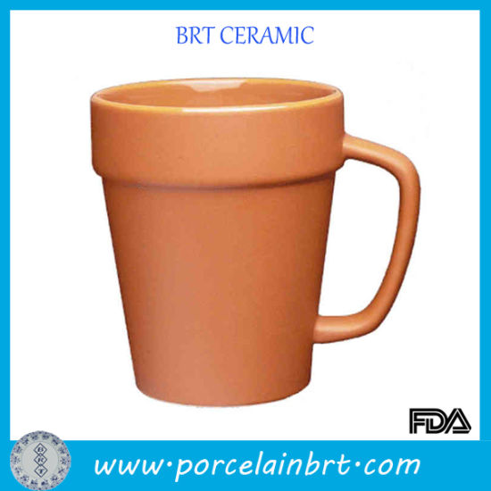 Simulation Flowerpots Ceramic Terra Cotta Mug pictures & photos