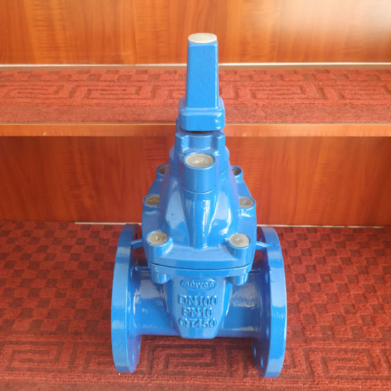 China Manufacturer En Standard Ce ISO Ggg50 Ductile Iron Soft Seat Flange Hand Wheel Manual 6 Inch Water Gate Valve