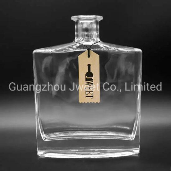 Custom Rectangular 750ml Glass Gin Tequila Vodka Bottle