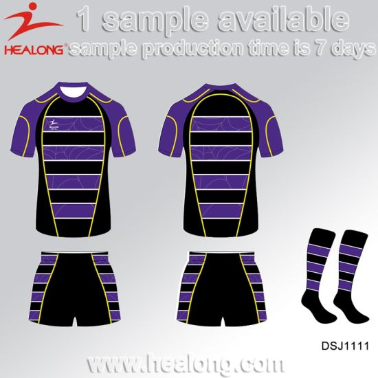 Healong Fashion Sportwear Sublimation Printing Rugby Jersey for Sale pictures & photos