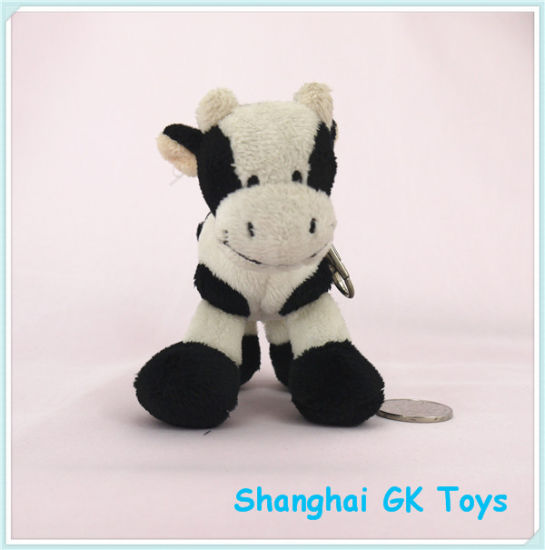China Animal Keychains Small Cow Keychain China Keychain Plush