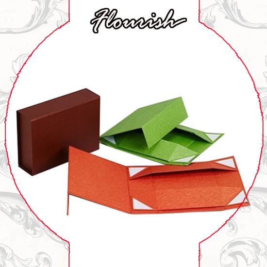 Flat Pack Foldable Rigid Cardboard Box for Gift Packaging