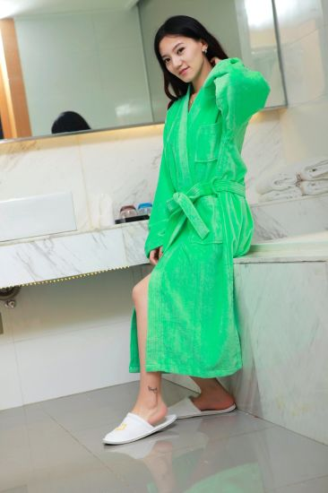 Hotel Cotton Waffle Adults Bath Robes Bath Bathrobe for Men pictures & photos