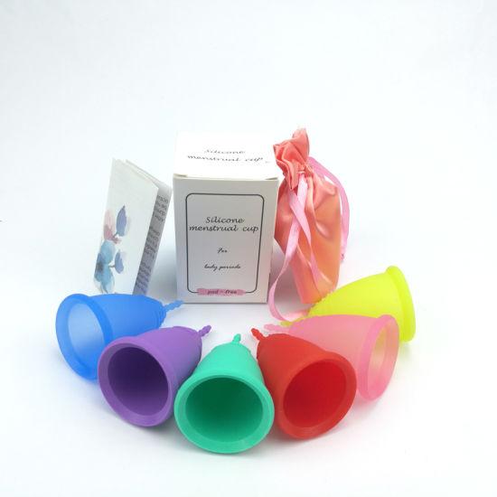 FDA Hot Women Lady Girl Period Silicone Copa Menstrual Cup