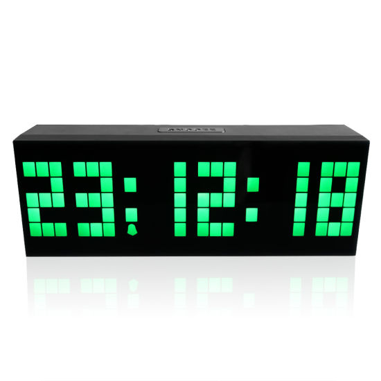 Decorative Large 6 Digit Remote Control LED Digital Wall Clock pictures & photos
