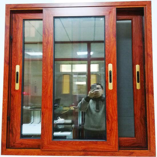 Aluminium Profile Frame Etching Glass House Window Designs