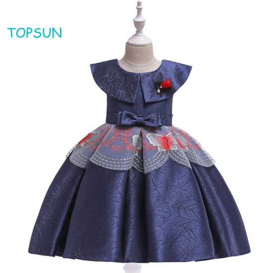 Toddler Children Flower Girl Clothing Little Big Princess Bridesmaid Wedding Party Gown First Communion Prom Dresses for Kid