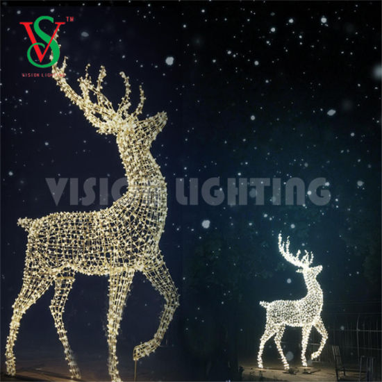 Led Reindeer Motif Lights For Outdoor Christmas Decorations