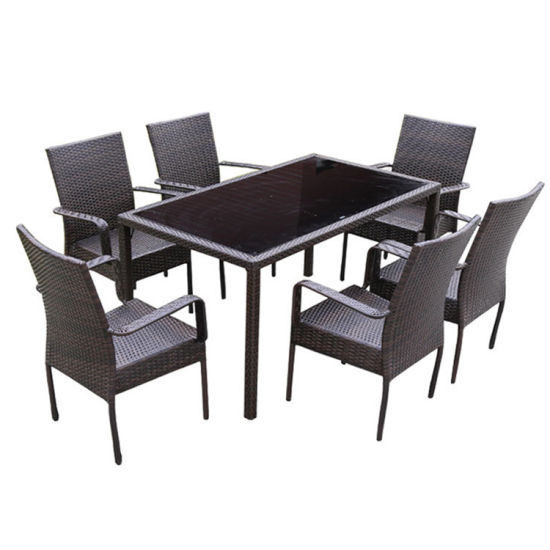 New Customized Black/White Outdoor Furniture Set for Wholesale