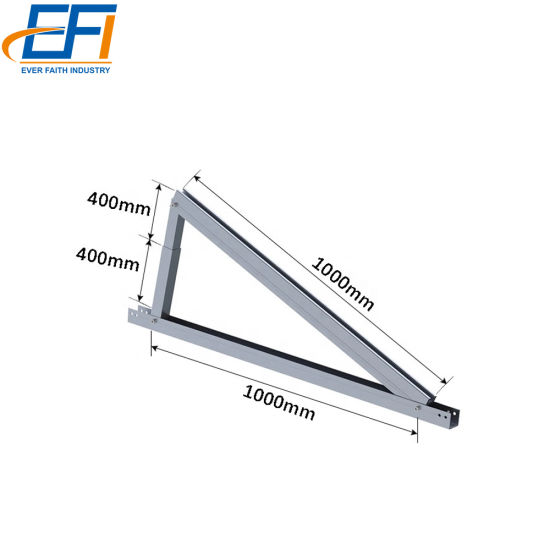 Solar Mount Adjustable Ground Frame Solar Panel Triangle Tilt Mounting Bracket