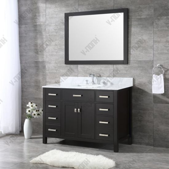 China Usa Style 48inch Espresso Cabinet, What Size Mirror For A 48 Inch Vanity