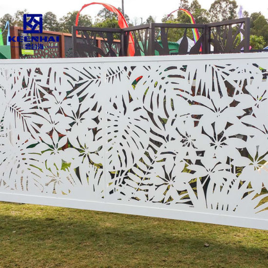 Modern Laser Cut Decorative Design Aluminum Garden Fencing