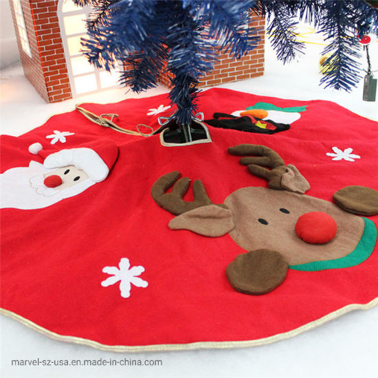 Christmas Tree Skirts Carpet Blanket Christmas Home Decorations Party Supplies pictures & photos