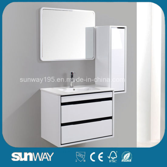 2019 Hot Selling Wall Mounted MDF Bathroom Cabinet with Mirror
