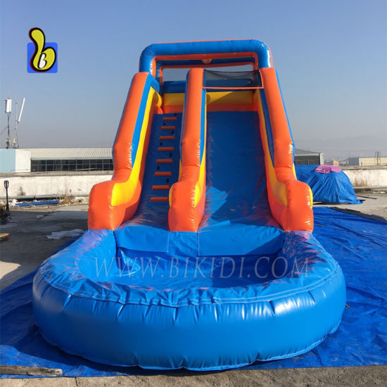 Commercial Inflatable Bouncy Slide, Inflatable Water Slide with Pool B4100