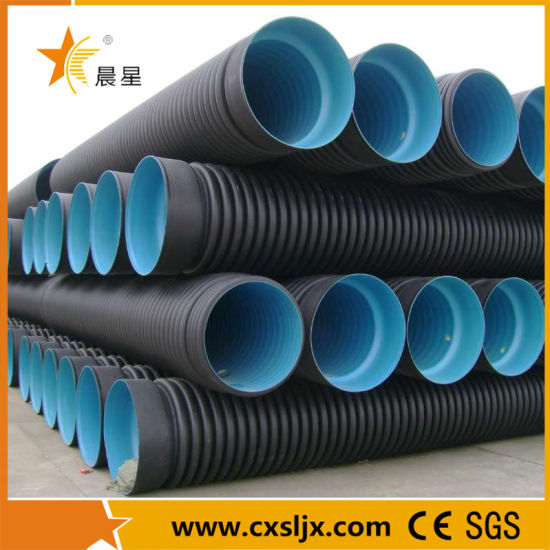 HDPE PVC Double Wall Corrugated Pipe Machine / Extrusion Line
