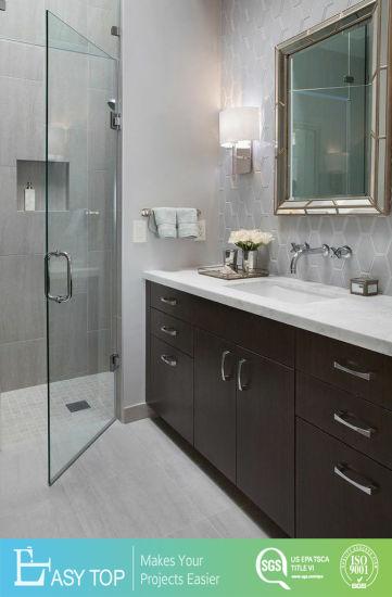 Free Fitting Competitive Price Hotel Vanity MDF Melamine Finish Modern Bathroom Cabinet