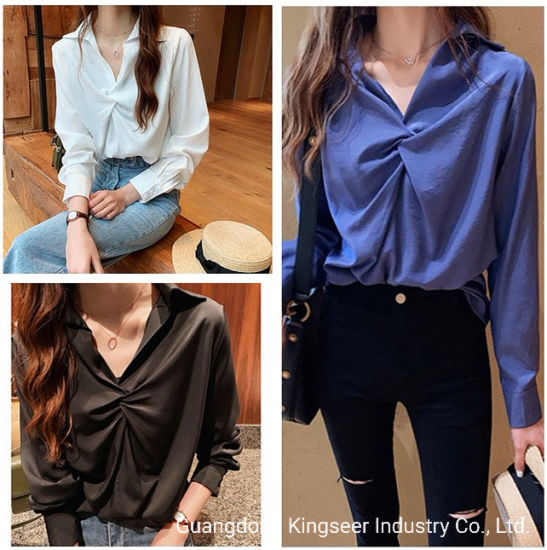 2019 Autumn New Design Fast Fashion Ladies Tops Long Sleeve Loose Women Shirt Clothes